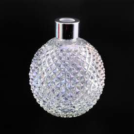 China Grenade style electroplating white glass diffuser bottle factory