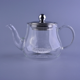 China Hand Made Heat Resistand Glass Tea Pot Set With Glass Infuser factory