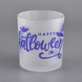 China Happy Hallows' Day decorative 10oz glass candle jars factory