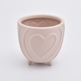 China Heart shaped Ceramic Candle Jar factory