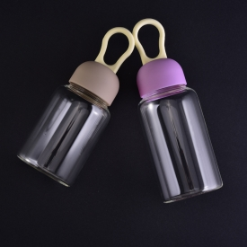 China Heat resistant borosilicate glass bottle with cap factory