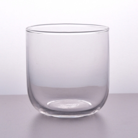 China Hight white clear transparent glass candle holder cup factory