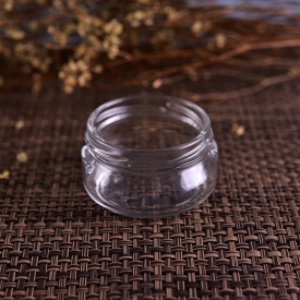China Homologous cosmestic glass jar with screw top factory