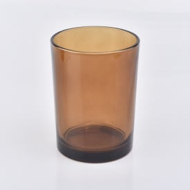 China Hot Sale Amber Glass Candle Jars factory