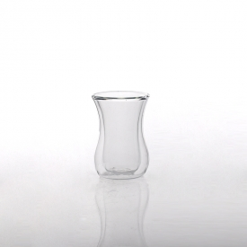 China Hot double wall glass tea cup factory