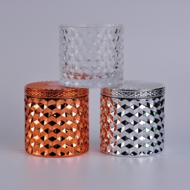 China kilang LOW MOQ Glass Candle Jar With Lids