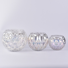 China Large pearl white glass ball flower vase wholesale factory