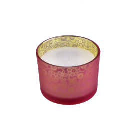 China Luxury Frosted Glass Candle Jars With printing factory