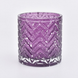 China Luxury Geo Cut Glass Candle Holder For Christmas factory