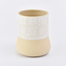 China Luxury ceramic candle jars customized candle holder wholesales factory