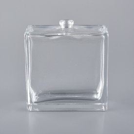 China Luxury fancy design empty clear glass 60ml spray pump perfume bottle factory