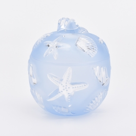 China Luxury unique design 6oz glass candle holder wholesale factory