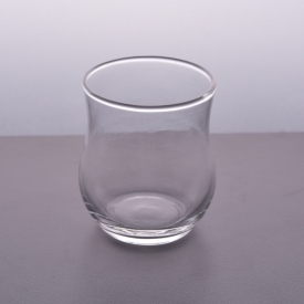 China Machine blown transparent 4oz glass candle holder wholesale factory