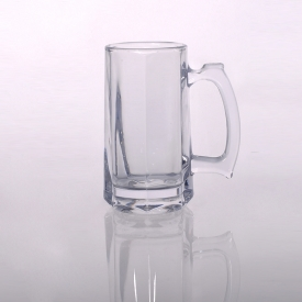 China Machine made 360ml large beer glass mug factory