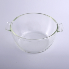 China kilang Microwave Oven Heat-resistant Glass Cake Bowl Dish With Lid