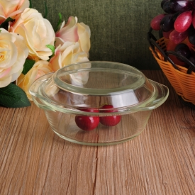 China Microwave Pyrex Glass Kitchen Food Container With Glass Lid factory