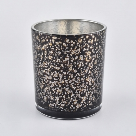 Chiny New Arrival Glass Candle Jars With Silver Plating fabrycznie