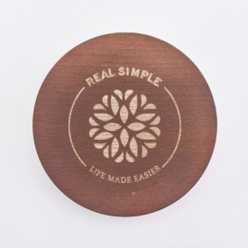 China Popular MDF Wooden lids with laser logo for candle jars factory