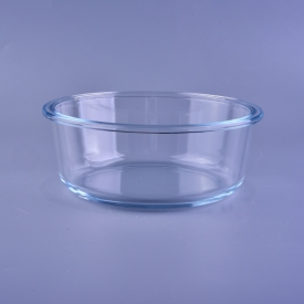 China Promotional clear high borosilicate glass bowl factory