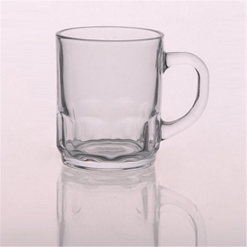China Stocked Clear Glass Beer Mug Juice Water Glass factory