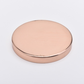 China Rose Gold Metal Candle Jar Lids For Stainless steel material factory