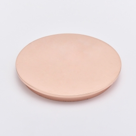 China Rose Gold Zinc Alloy Candle Metal Lids factory