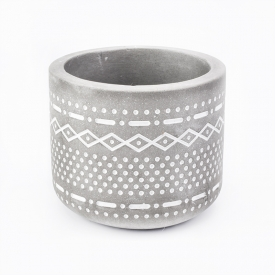 China Round shape home  modern cement  tealight candle holders factory