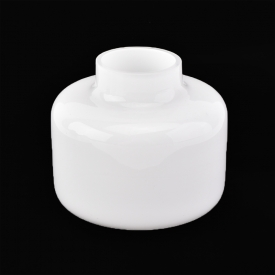 China Round white overlay glass reed diffuser bottle  factory