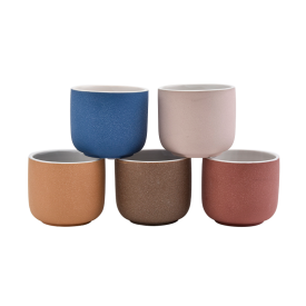 China Sandy Ceramic Candle Vessels Wholesale factory