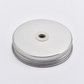 China Silver Metal Screw Caps For Mason Jars factory