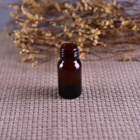 China Small screw top amber glass bottle for medicine factory