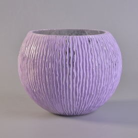 China Spraying purple glass candle bowl for candles factory