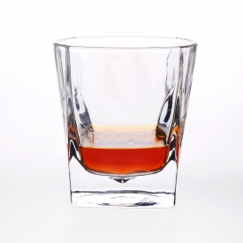 China Stock fancy high white square whiskey glass cup on sale factory