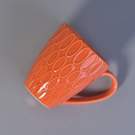 China Sunny Glassware orange ceramic mug factory