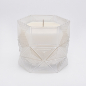 China Sunny own design hexagon glass candle jar-Fabrik