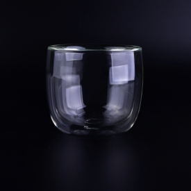 China Transparent double wall glass tea cups factory
