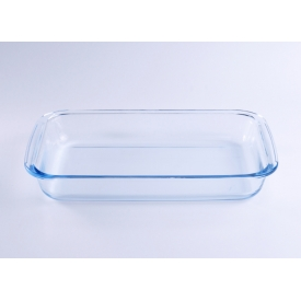 China Tempered Rectangle Dish Glassware Baking Plate factory