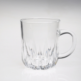 China Twisted tumbler water cup glass mug factory