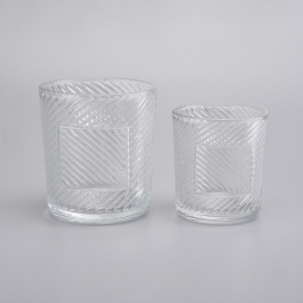 China Unique Empty Glass Candle Jar For Candle Making factory