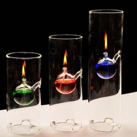 China Wholesale Borosilicate Custom Design Glass Oil Lamp Light factory