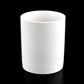 China Wholesale Matte White Ceramic Candle Jars factory