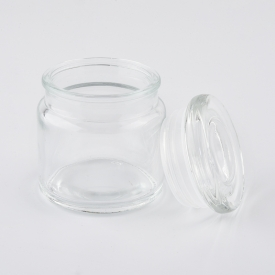 China Wholesale glass candle containers transparent glass jar for home decor factory
