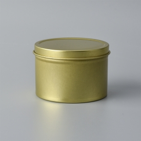 China Wholesale round gold tin case candle containers factory