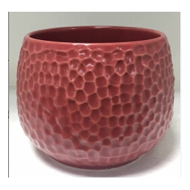 China ball shaped dot debossed ceramic candle containers wholesale factory