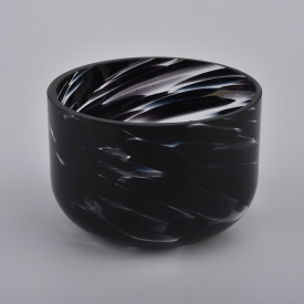 China black cased glass candle bowl factory