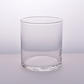 China clear round straight glass candle holders from Sunny Glassware factory