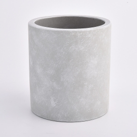 China concrete cylinder candle vessel nature color factory