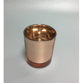 China copper color glass candle jar factory