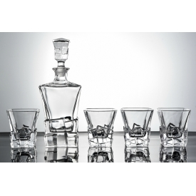 China cube whisky glass decanter with whisky glass cup set factory
