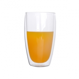 China double wall tea glass/double wall juice glass cup factory